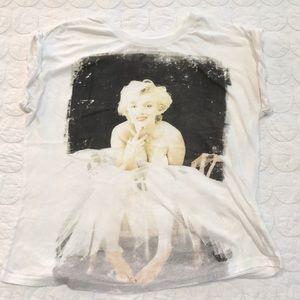 {Marilyn Monroe} Roll Sleeve Tee Shirt 1X XL
